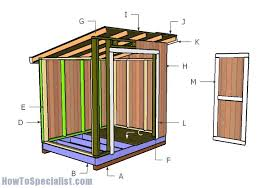 How To Build A 8x8 Shed From Scratch by Building A 6x8 Lean To Shed Diy Plans Pinterest Making Space