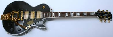 light blue gibson les paul gibson custom limited les paul custom 3 pickup with bigsby vos ebony