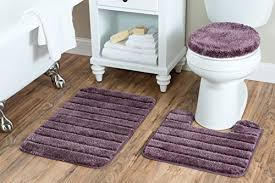 Plum Bath Rugs Baltic Linen Luxury 3 Bath Rug Set Plum Wall S