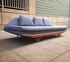 wow gorgeous gondola sofa reversible striped fremont vintage