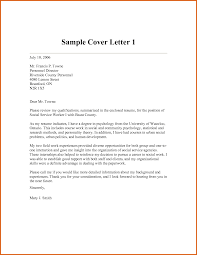 Apa Cover Letter Sample Social Work Cover Letters Image Collections Cover Letter Ideas
