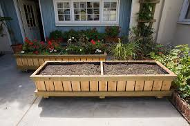 planter box design patio contemporary with bed bolts california