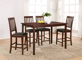 dining room table and chairs cheap essential home cayman 5 piece high top dining set