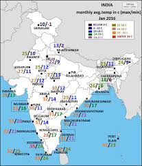 Mumbai India Map by Vagaries Of The Weather India Jan 2016 Weather Averages