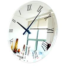 Large Mirrored Wall Clock Home Design Red Fifties Style Kitchen Wall Clock Clocks Large Cm