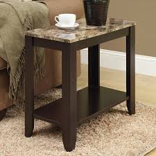 shop monarch specialties cappuccino end table at lowes com