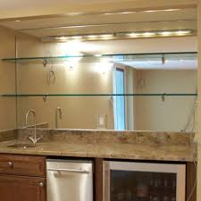 Mirror With Shelves by Bar Mirror With Glass Shelves Patriot Glass And Mirror San