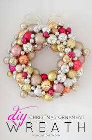 how to make a ornament wreath livelovediy