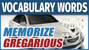 how to learn english vocabulary word gregarious memorize