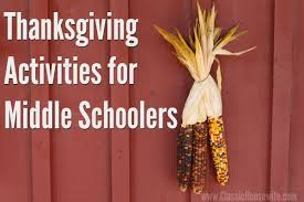 thanksgiving activities for middle schoolers classic