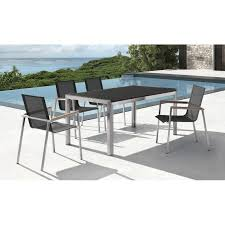 Teak And Stainless Steel Outdoor Furniture by Stainless Steel Sling Teak Arm Chair Real Patio Living