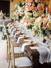 Long Table Centerpieces Inspiring Decorating Long Tables For Wedding Reception 24 About
