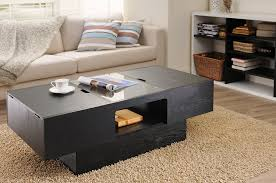 coffee tables simple walnut coffee table with storage