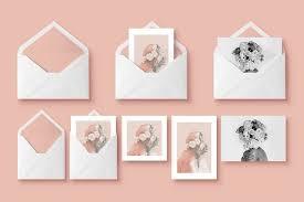20 psd invitation greeting card mockups webprecis