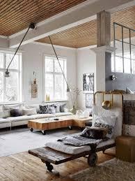 canapé style industriel comment intégrer la table basse style industriel dans le salon