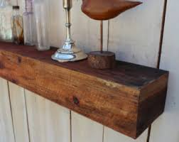 floating wood shelf etsy