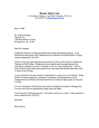 Cover Letter Sample Cover Letter Retail Sales Cover Letter By Marc Shelton Sales Cover Letter