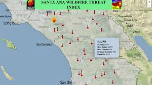 Wildfire Map New Santa Ana Mapping Tool Can Predict Wildfires Nbc 7 San Diego