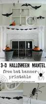 silhouette halloween mantel mantels banners and halloween