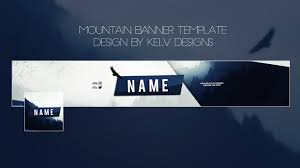 mountain youtube banner template kelv designs sellfy com