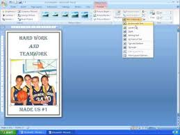 tutorial youtube word word 2007 tutorial 18 making a simple poster youtube