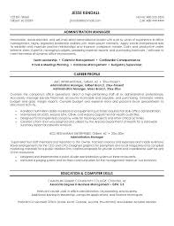 resume format administration manager job profiles occupations sles of resumes for administrative assistant administration ideas