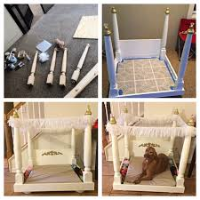 Pet Canopy Bed Diy Bed This For My Pups For The Home Pinterest