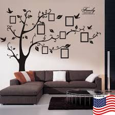 living room wall stickers us family tree bird wall sticker picture photo frame removable