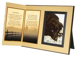 remembrance picture frame in my heart memorial picture frame and pet loss sympathy gift