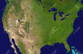 World Map Of Usa by A Satellite Map Of Usa And Neighboring Countries With The Main