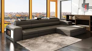 Gray Leather Sectional Sofa by Grey Leather Sectional Polaris Mini Leather Sectionals