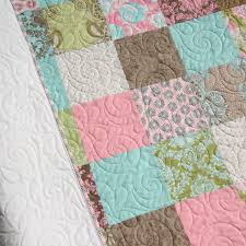 last one shabby chic quilt baby patchwork blanket brown