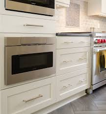 Kitchen Microwave Cabinets Modern Kitchen Remodel With Elmwood Cabinets And Wolf Duel Range