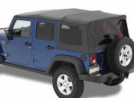 wrangler jeep 4 door black bestop supertop nx soft top with tinted windows without doors for
