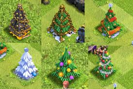 christmas tree light game in clash of clans they have made a new christmas tree every year