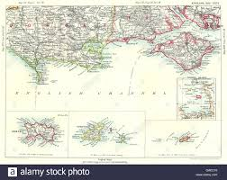 Dorset England Map by Dorset U0026 Hampshire Coast Channel Islands Jersey Guernsey Isle Of