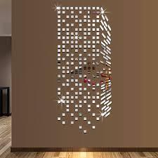 Spiegel Home Decor by Mirror Mosaic Background Wall Stickers Home Decor Diy Creative