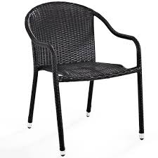 Stackable Wicker Patio Chairs Amazon Com Crosley Furniture Palm Harbor Outdoor Wicker