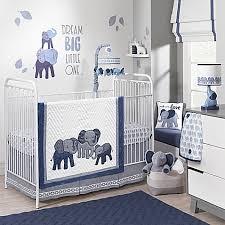 Zutano Elephant Crib Bedding Lambs Elephant 3 Crib Bedding Set In Indigo Buybuy Baby