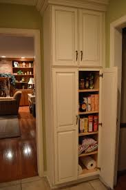 particleboard raised door walnut pantry ideas for small kitchen