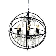Orb Chandelier Black Wrought Iron Orb Chandelier Free Shipping Today