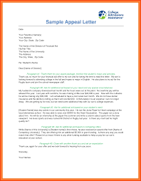 sample financial aid appeal letter program format
