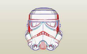 dali lomo star wars stormtrooper helmet diy cardboard free