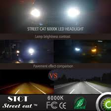 amazon com street cat 9005 hb3 led headlight bulbs conversion