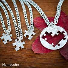 puzzle heart pendant necklace images 4 puzzle pieces best friends heart necklaces friendships or jpg