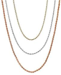rose gold necklace chains images Macy 39 s 18 30 quot rope chain necklaces in 14k gold white gold or rose tif