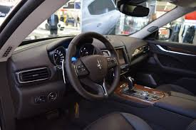 maserati interior maserati levante interior at 2016 bologna motor show indian