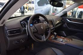 maserati levante interior back seat maserati levante bologna motor show live