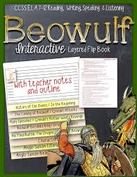 beowulf reading literature guide flip book flip books flipping