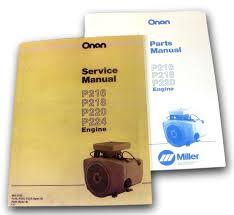 lot miller bobcat 225 225g welder generator onan engine service